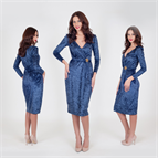 Rochie Olivia bleumarin M40 -So Love by Life Care® - cod 2162 Life Care