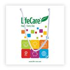 Busta di carta in regalo 26 x 26 x 10 cm - codice 99002 Life Care