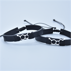 HAPPY natural leather cord bracelet Life Care® - Code 8360 Life Care