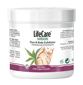 Scrub with Hyaluronic Acid and Hemp Oil, Life Care® - Code 4620 Life Care